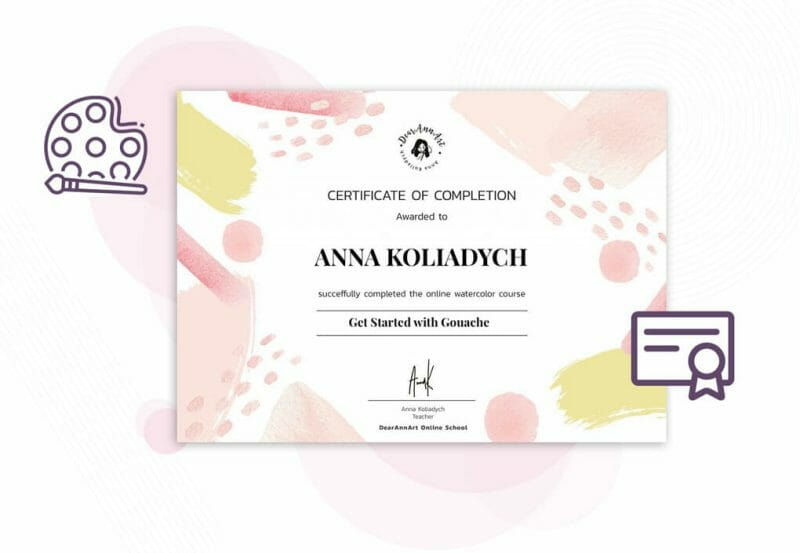 get started with gouache certificate