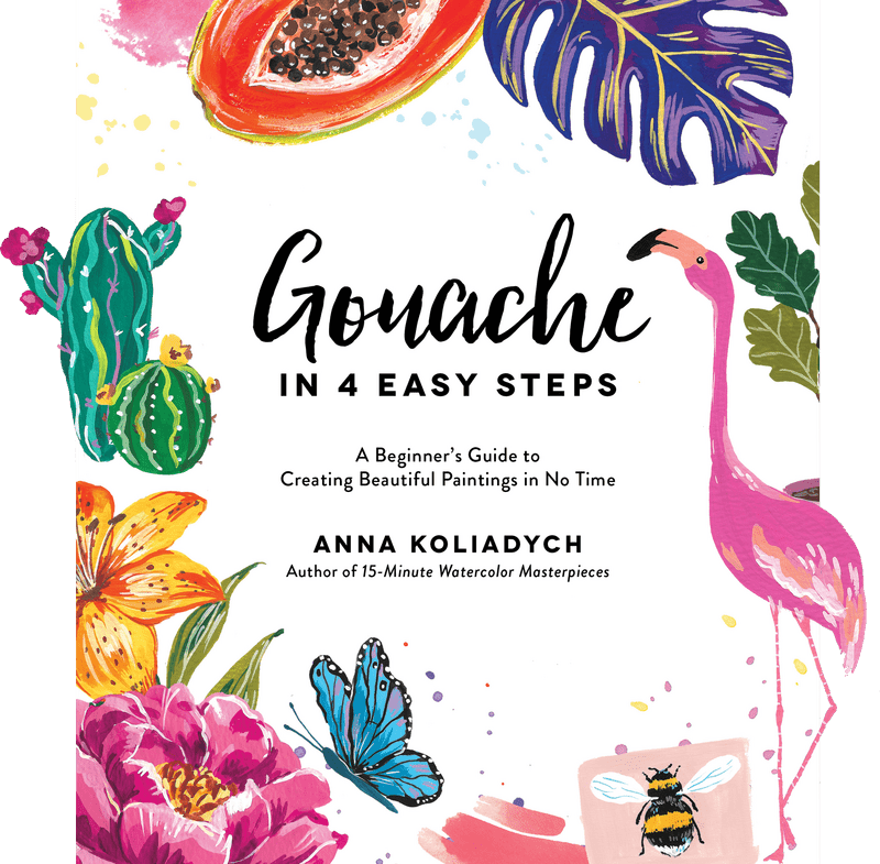gouache in 4 easy steps book cover