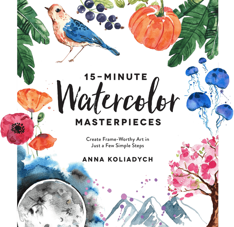 15 minute watercolor book cover